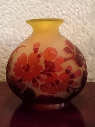 ガレ桜文花瓶